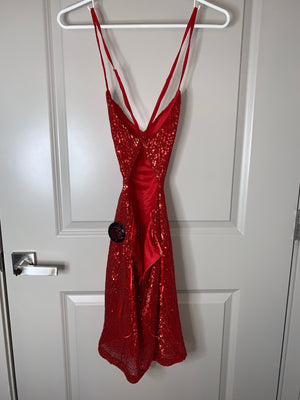 Red Sequin Dress by Hot Miami Styles  Holiday SALE!!!