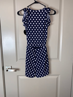 NEW Navy Polka Dot Romper by Hot Miami Styles  Holiday SALE!!!