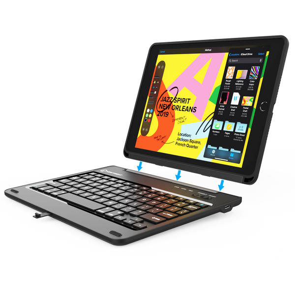 "iPad 10.2"" 8th Generation (2020), 7th Generation (2019) Detachable Rugged Keyboard Case, NT52B"