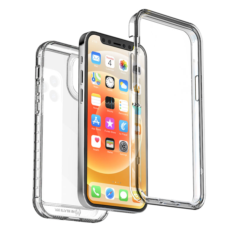 New Trent 6.7-inch iPhone 12 Pro Max 2020 Case, Full-Body Protection Transparent Case with Built-in Screen Protector, NT618TRL