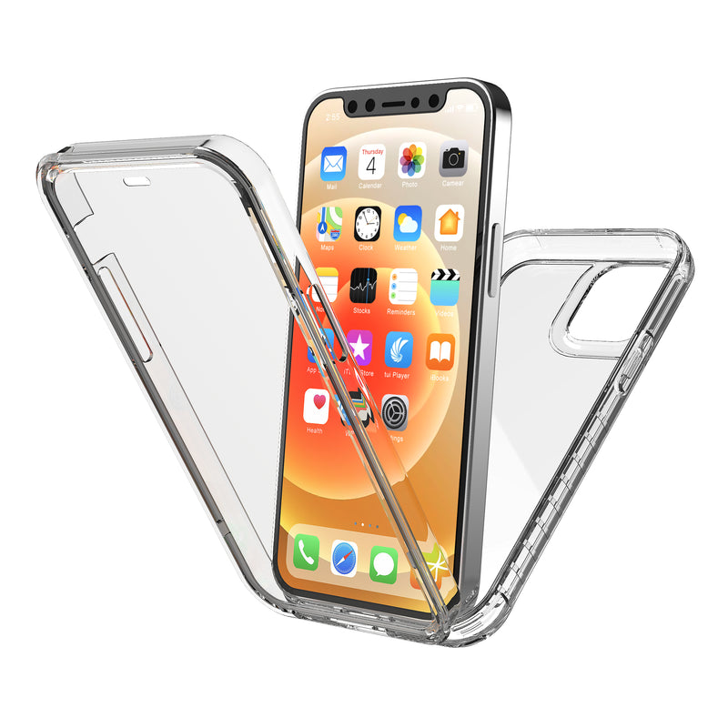 New Trent 5.4-inch iPhone mini 12 Case 2020, Full-Body Protection Transparent Case with Built-in Screen Protector
