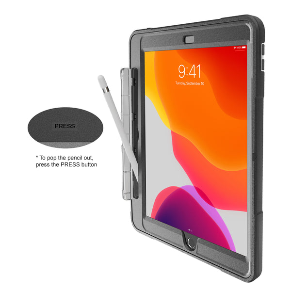 Glada iPad 10.2-Inch 8th Gen (2020) & 7th Gen (2019) Rugged Case with Pencil Holder, NT102GP