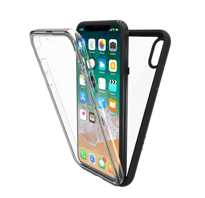 Azure Slim Full Body Transparent Case for iPhone X, NT882X - iPhone Case - New Trent
