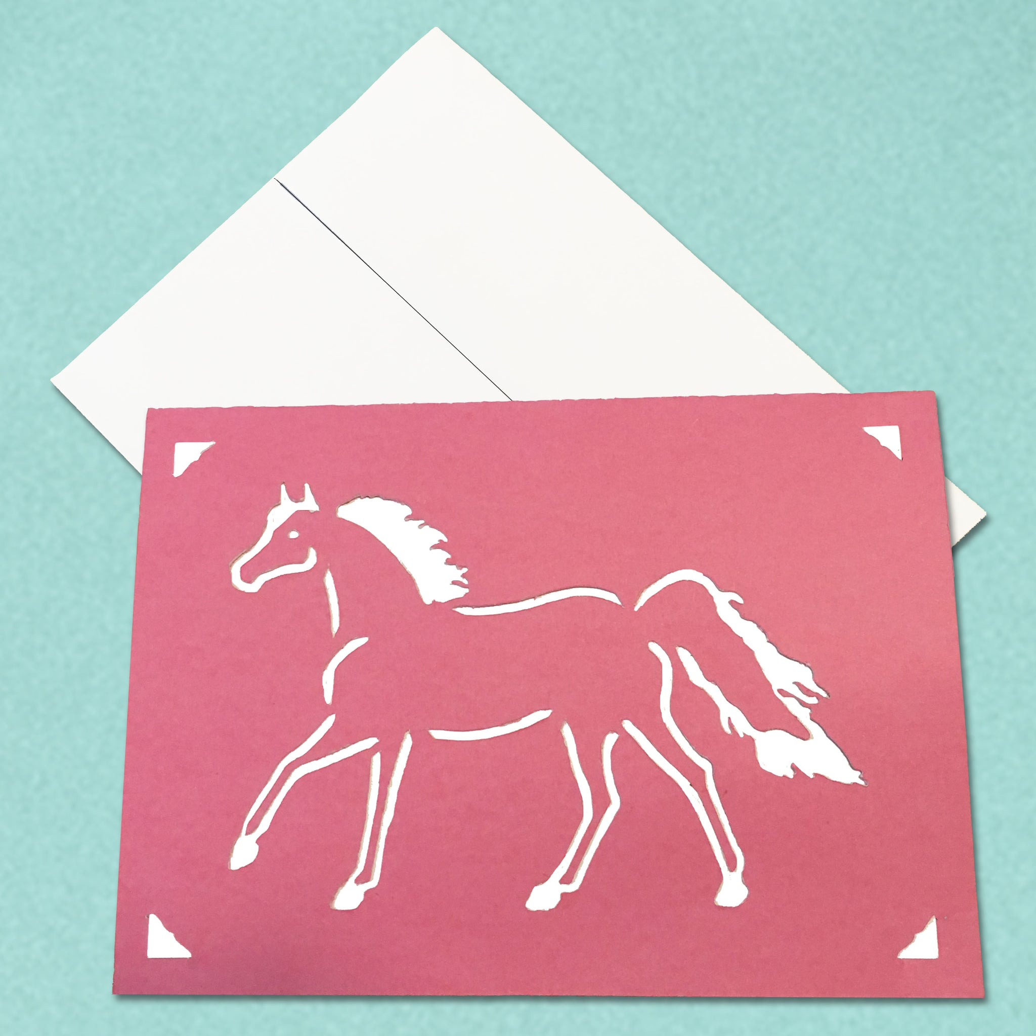 Arabian Horse Equestrian Greeting Card, 5x7 A7 size, Color and Message Choices