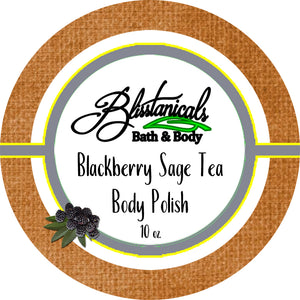 Whipped Sugar Scrub, Emulsified Body Polish, Blackberry Sage Tea