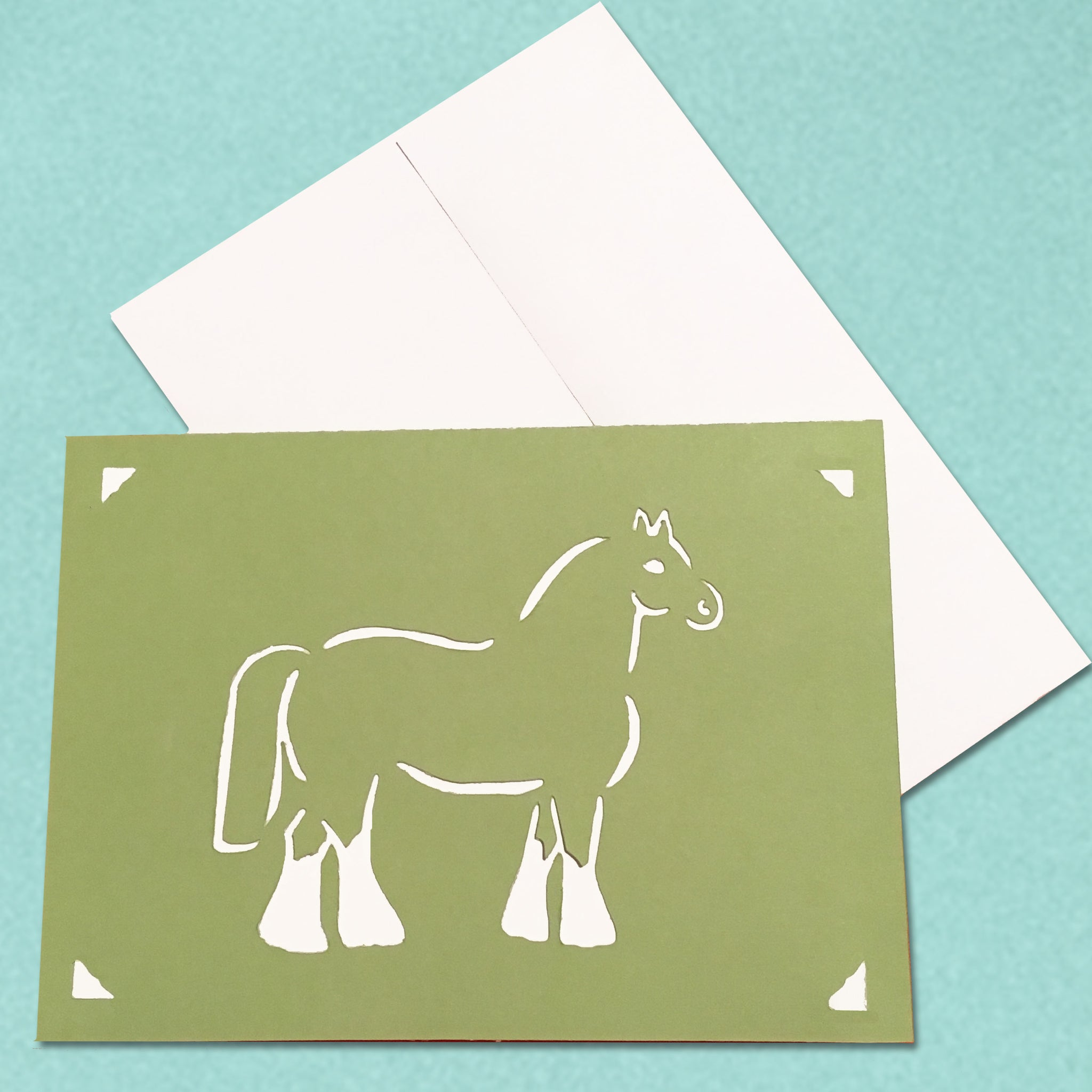 Draft Horse Card, Equestrian Greeting Card, 5x7 A7 size, Color and Message Choices