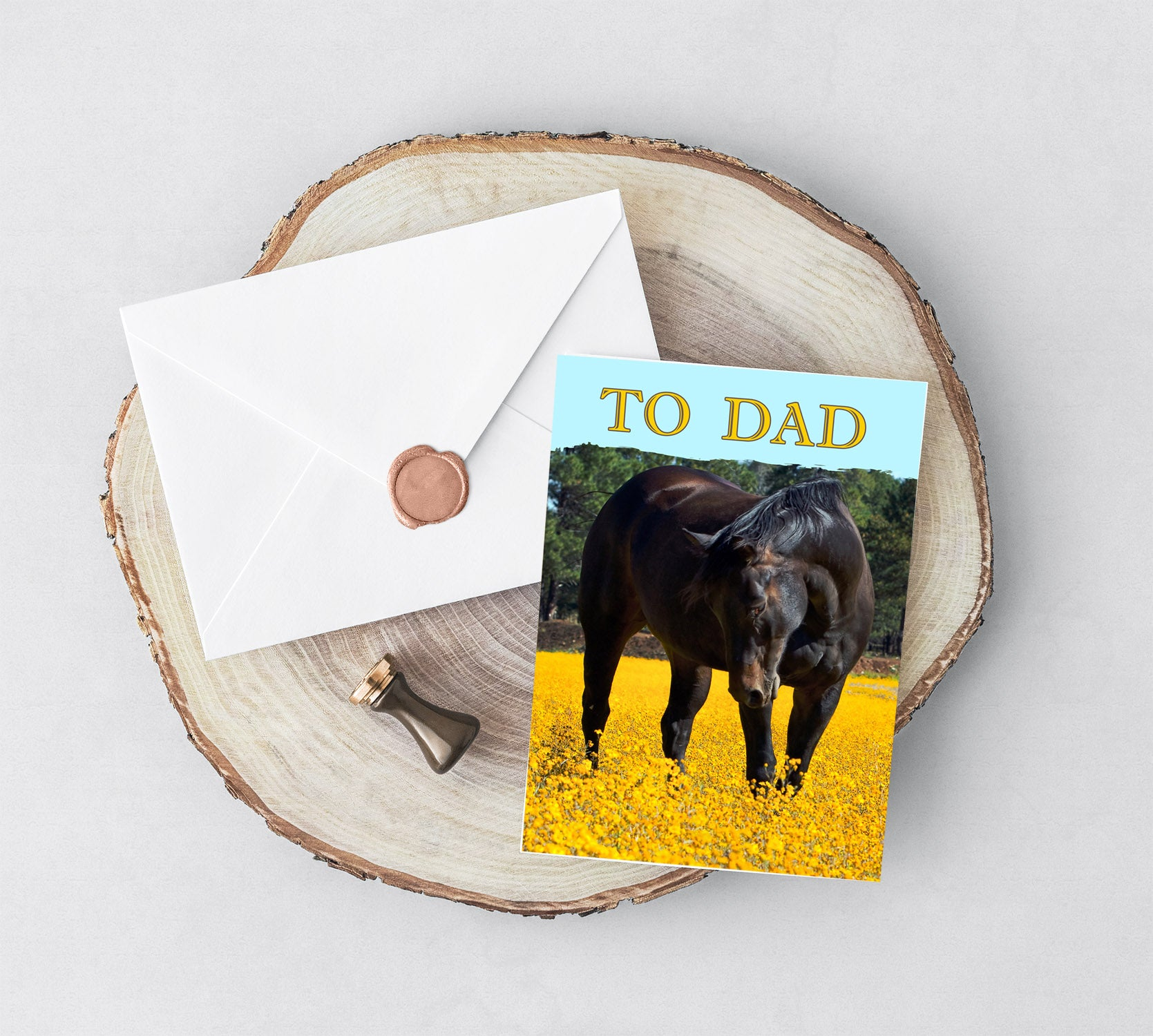 Father's Day Card For Horse Lovers, Cards For Dad, Adoptive Dad Cards