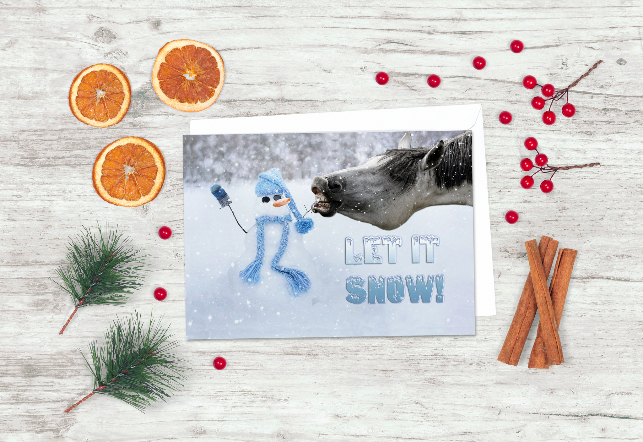 Funny Horse Holiday Card