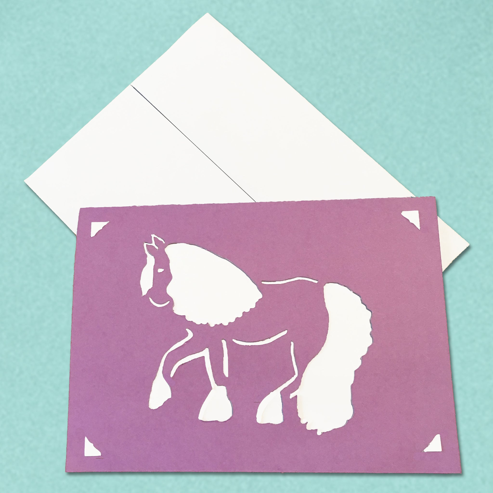 Gypsy Vanner Equestrian Greeting Card, 5x7 A7 size, Color and Message Choices