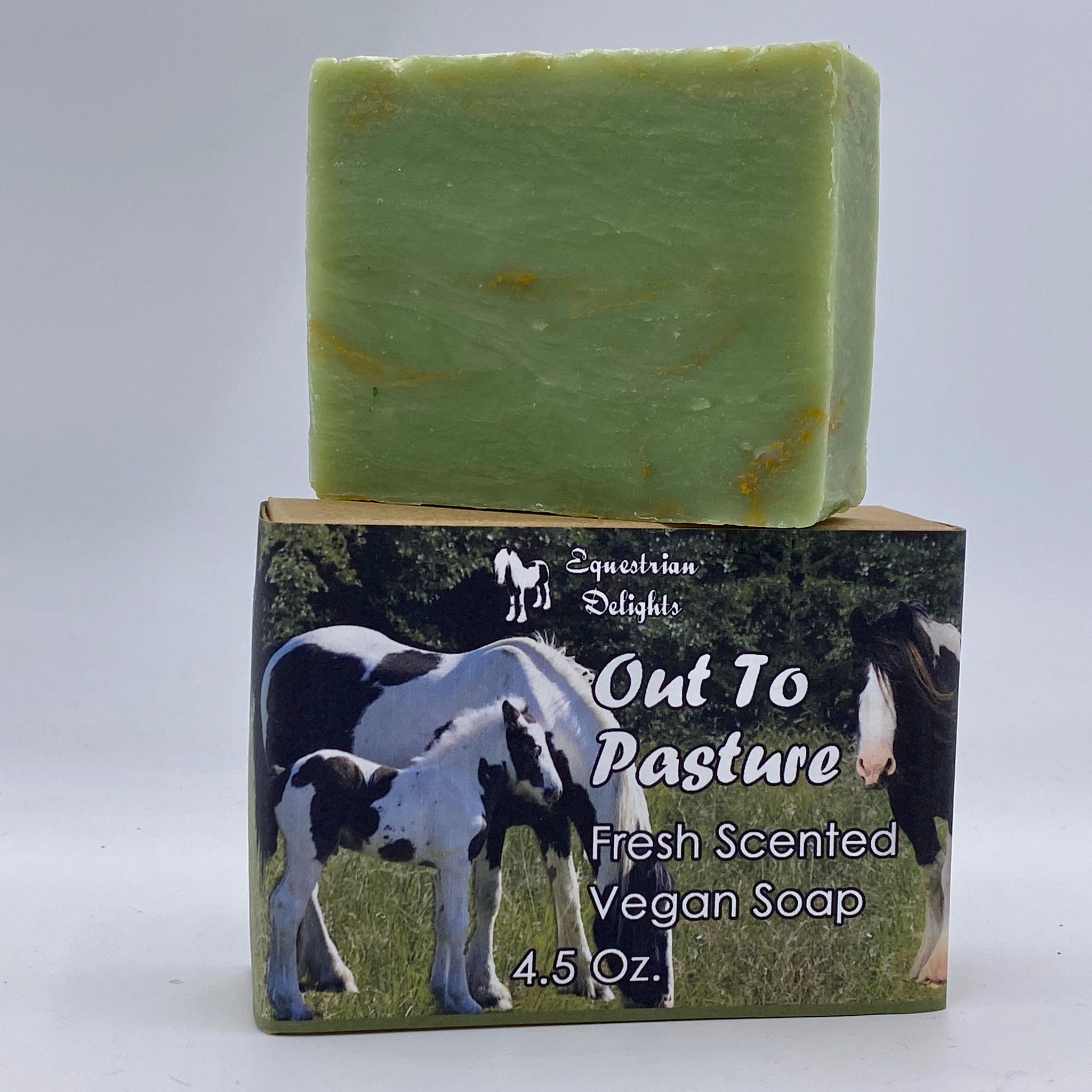Fresh Clover Scented Vegan Soap, Out To Pasture Equestrian Horse Lover Soap
