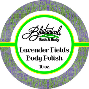 Lavender Bliss Body Scrub, Whipped Sugar Scrub, Emulsified Body Polish