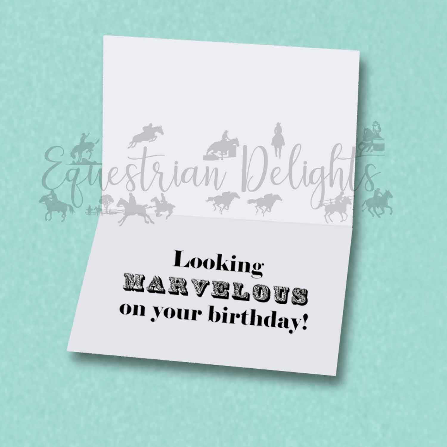 Birthday Card For Horse Lovers, Arabian Birthday Card