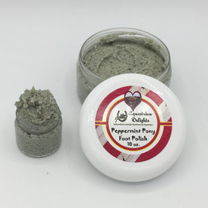 Peppermint Pony Foot Scrub, Salt Scrub, Foot Polish