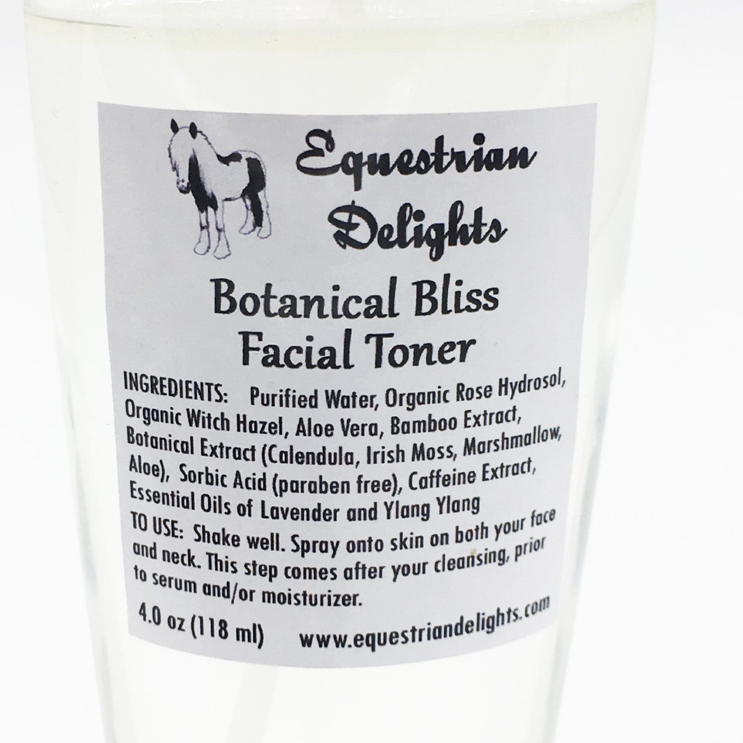 Organic Facial Toner Spray, Vegan Skincare, Essential Oil Facial Care