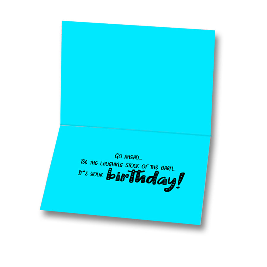 Funny Birthday Card, Unicorn Princess Card, Humorous Cards For Equestrians