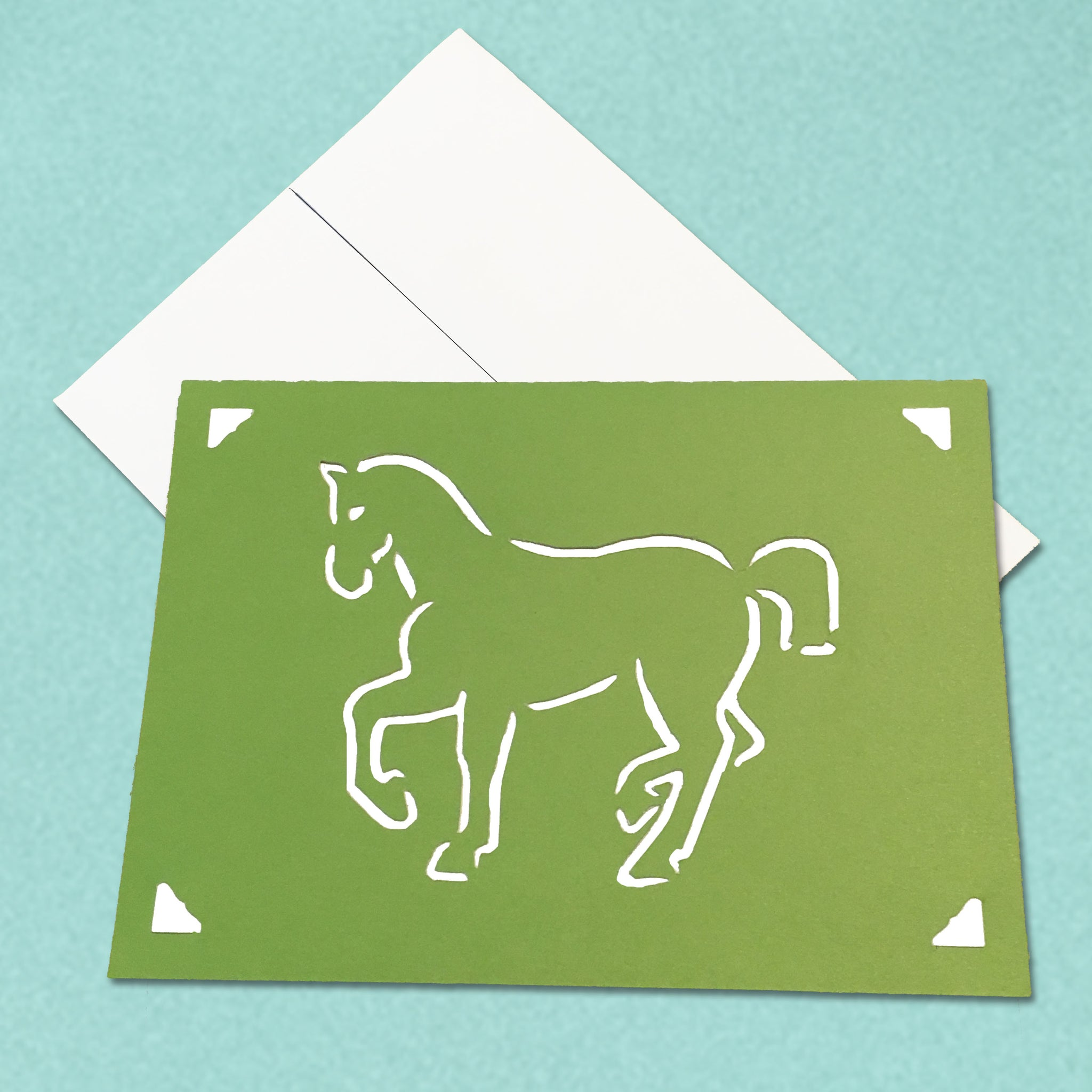 Vintage Horse Equestrian Greeting Card, 5x7 A7 size, Color and Message Choices