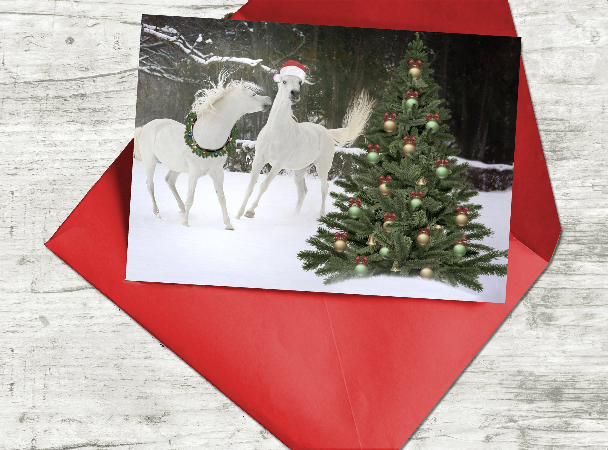 Arabian Horse Christmas Card