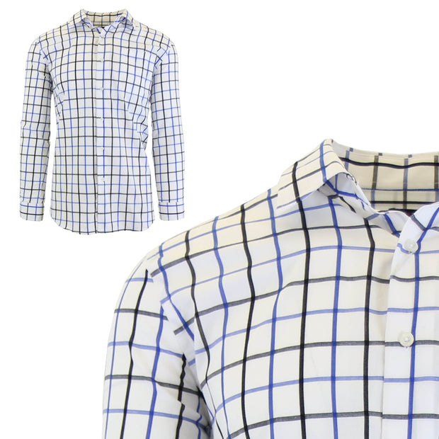 Men's Long Sleeve Printed Dress Shirts With Chest Pocket - GalaxybyHarvic