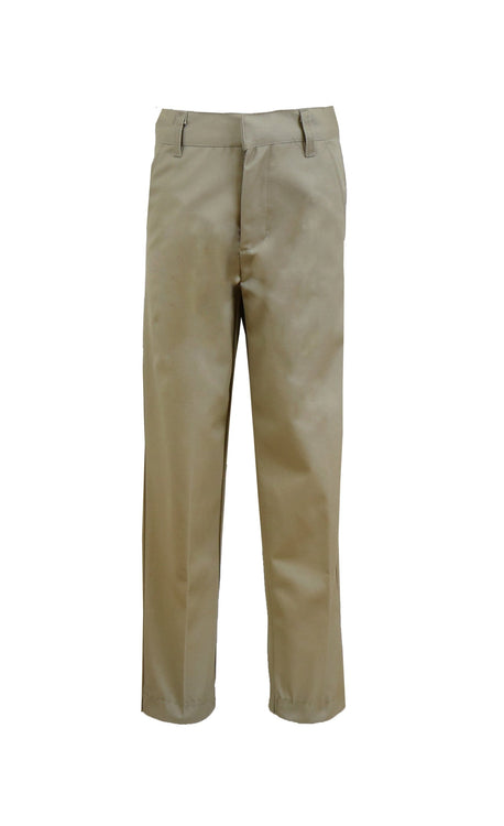 Boy's Slim Fit Flat Front Pants