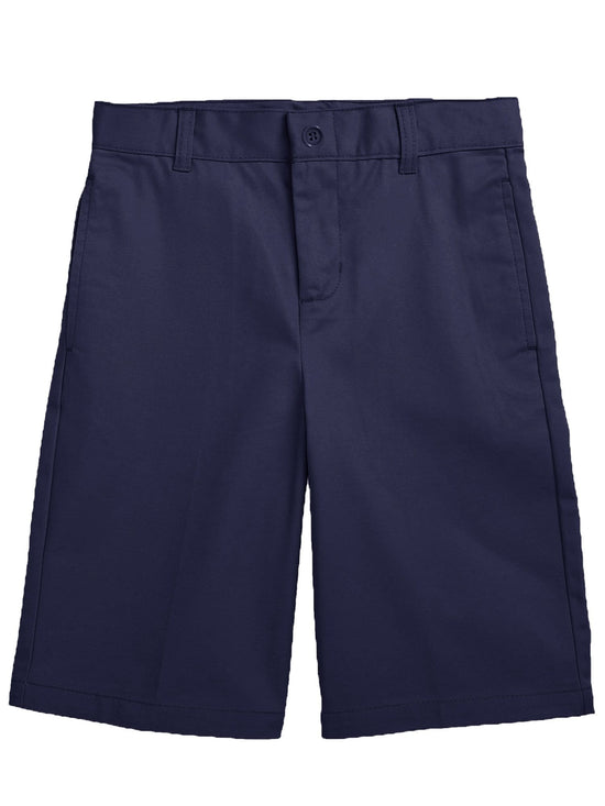 Boys Flat Front Twill School Uniform Shorts - GalaxybyHarvic