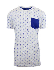 Men's Flamingo Printed Tee with Chest Pocket - GalaxybyHarvic