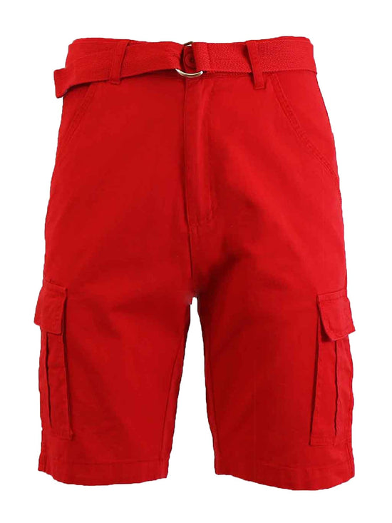Men's Cotton Belted Cargo Shorts - GalaxybyHarvic
