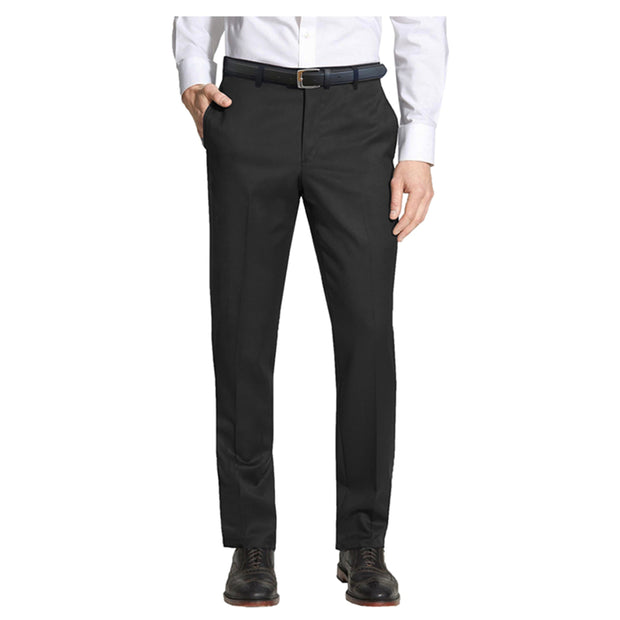 Men's Belted Slim Fit Dress Pants