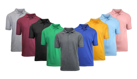 Men's Short Sleeve Pique Polo Shirt - GalaxybyHarvic