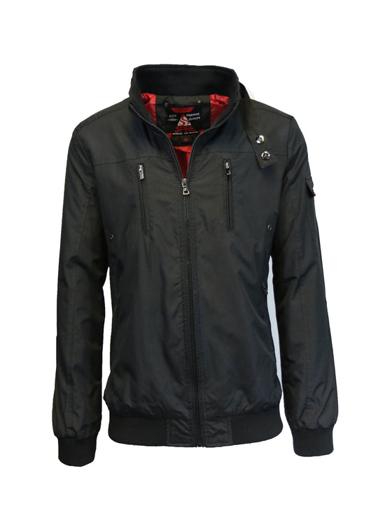 Men's Lightweight Modern-Fit Moto Bomber Jacket - GalaxybyHarvic
