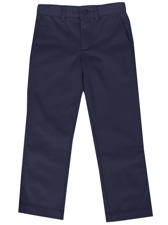Boys Slim Straight Flat Front School Uniform Pants