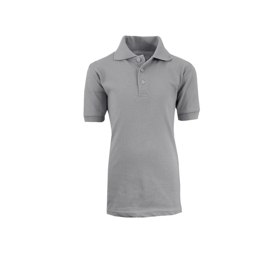 Boy's Polo - Heather Grey - GalaxybyHarvic