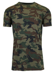 Men's Short Sleeve Crew Neck Camo Printed Tee (S-2XL) - GalaxybyHarvic