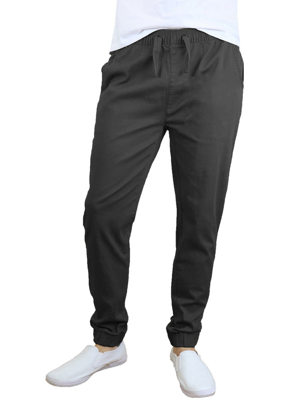 Mens Cotton Stretch Twill Joggers - GalaxybyHarvic