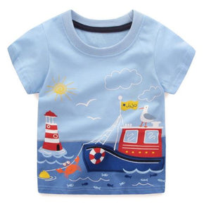 T-shirt: Boat on the water