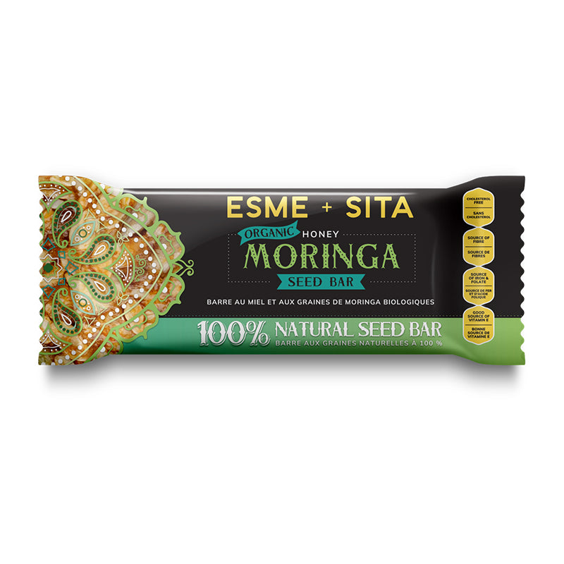Organic Honey Moringa Seed Bars (Box of 12)