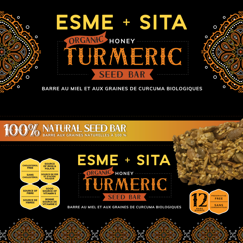 Organic Honey Turmeric Seed Bars (Box of 12)