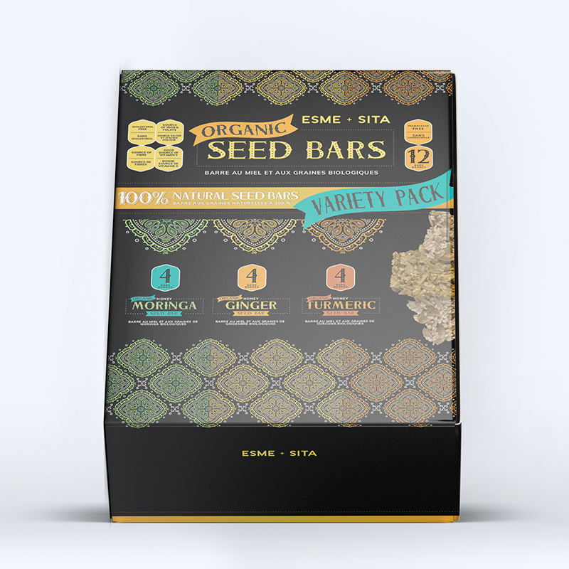 Variety Box of Organic Seed Bars (Package of 12)