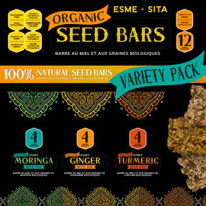 Variety Box of Organic Seed Bars (Box of 12)