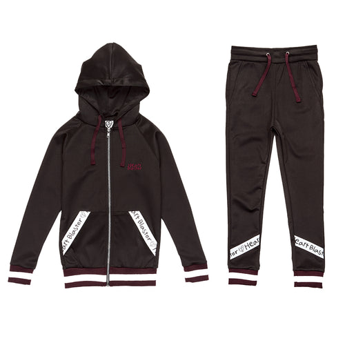 Girls 2 Piece Track Suit (Black)