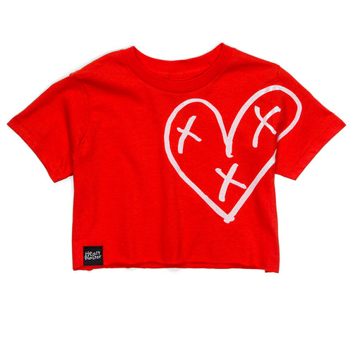 Heart Blaster Logo Crop Tee (Orange)