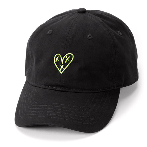 Heart Blaster Feminist Logo Dad Hat (Black/Yellow)