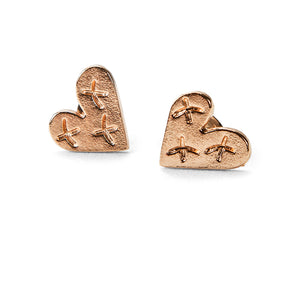 Heart Blaster Logo Earrings (Rose Gold)