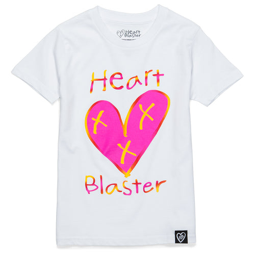 Heart Blaster Logo Gradient Tee (Pink and Orange)