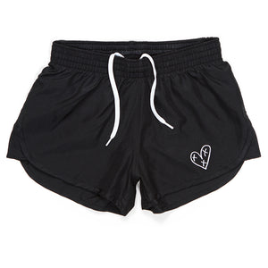 Heart Blaster Logo Athletic Shorts (Black)