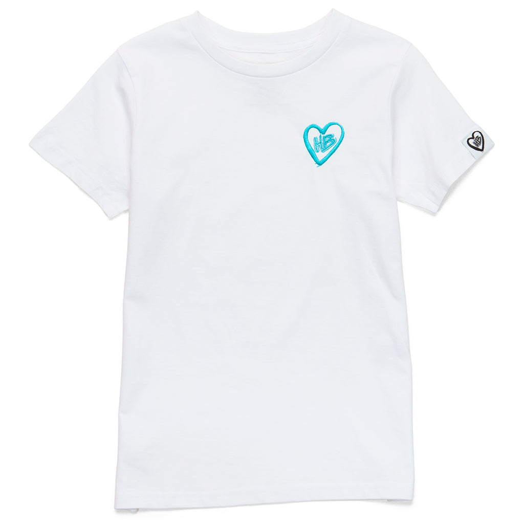 Embroidered Logo Tee (White)