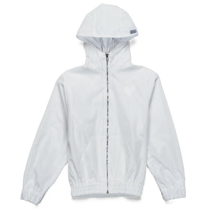 Heart Blaster Logo Nylon Windbreaker (White)