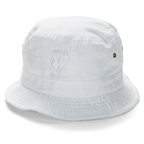 Heart Blaster Judge Me Not Bucket Hat (White)