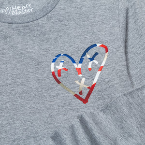 Have a Heart Tee (Heather Grey) ADULT