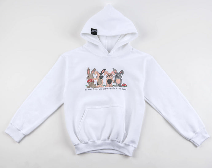 PRE-ORDER (ADULT) Be Some Bunny Great Hoodie (White)