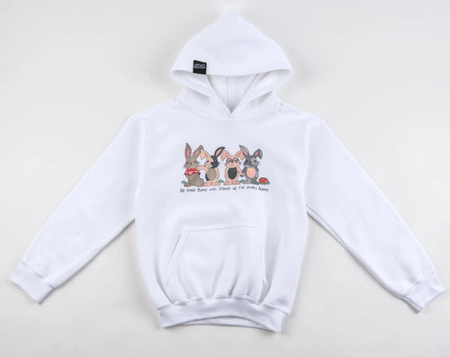 (YOUTH) Be Some Bunny Great Hoodie (White)